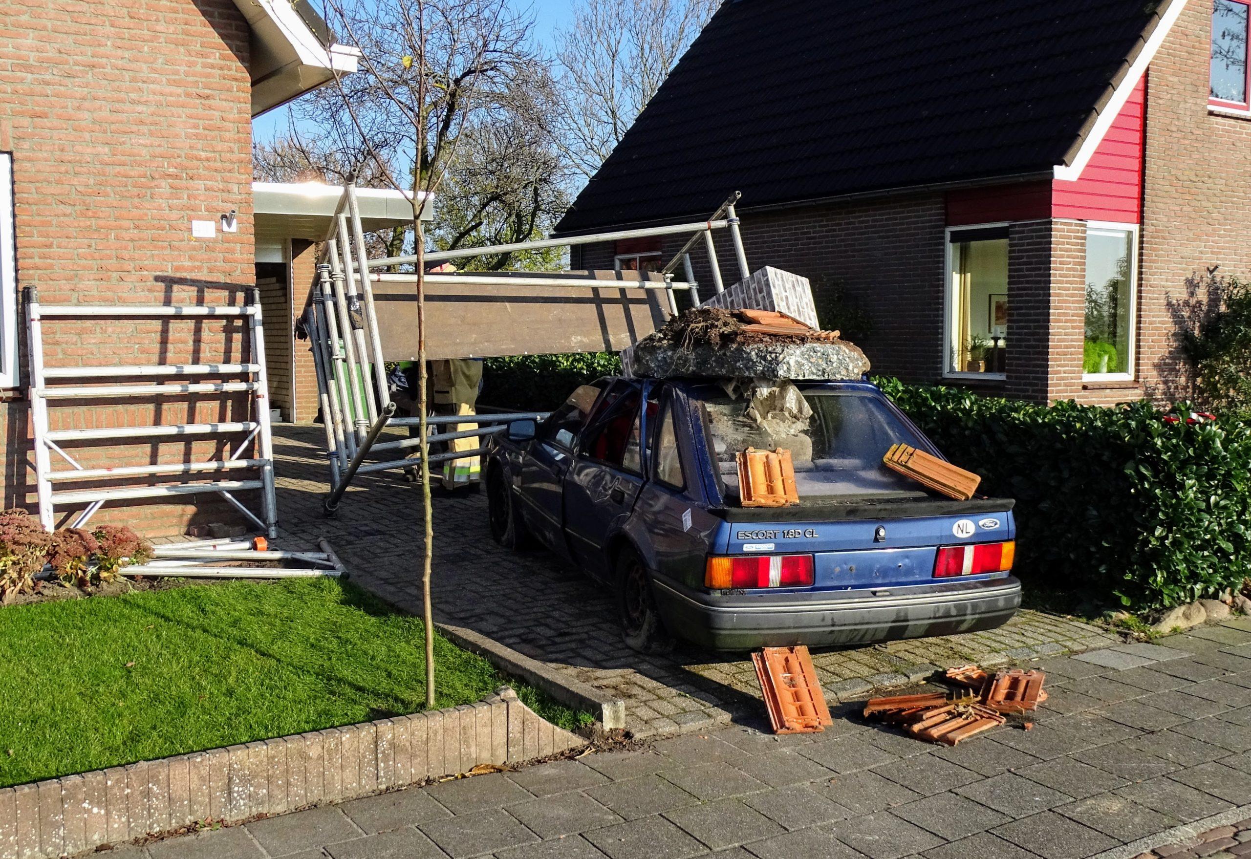 Aardbevingsschade tijdens oefening in Groningen