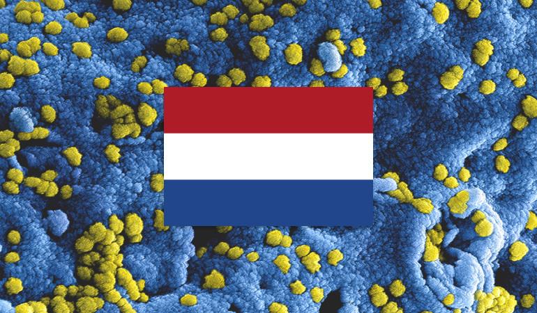 Coronavirus met nederlandse vlag