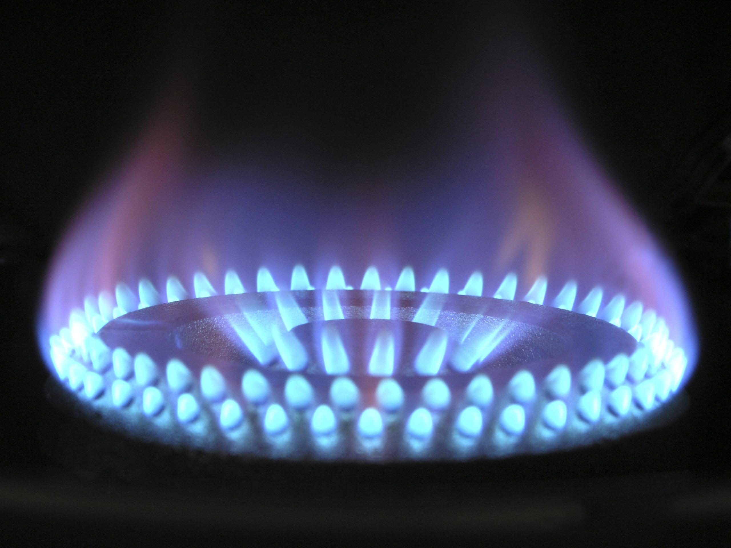 Gaspit met aardgas
