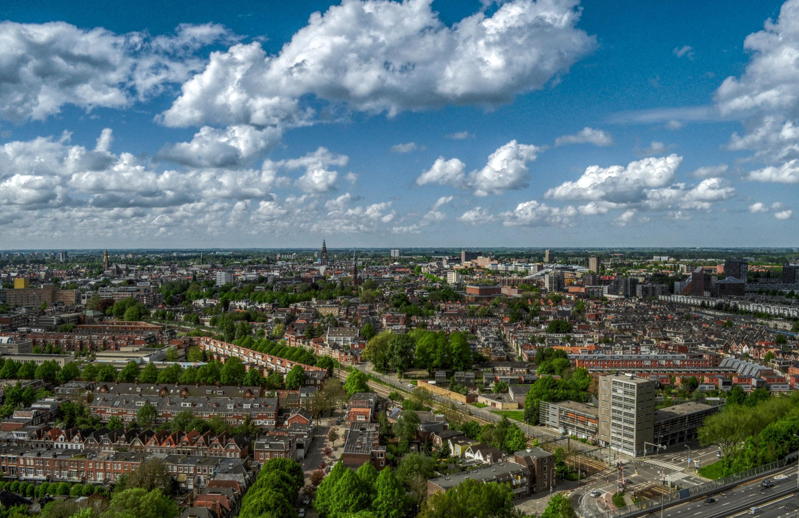 Uitzicht over Groningen, puur decoratief.